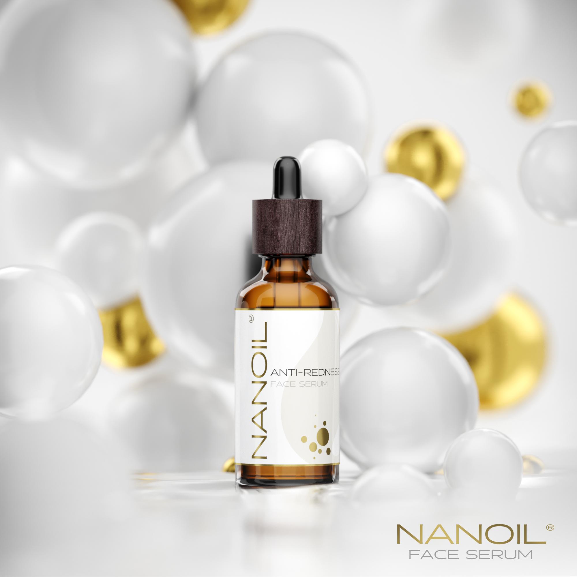 sérum conçu pour traiter les rougeurs du visage Nanoil